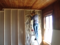 Putting in insulation, not my favorite thing.