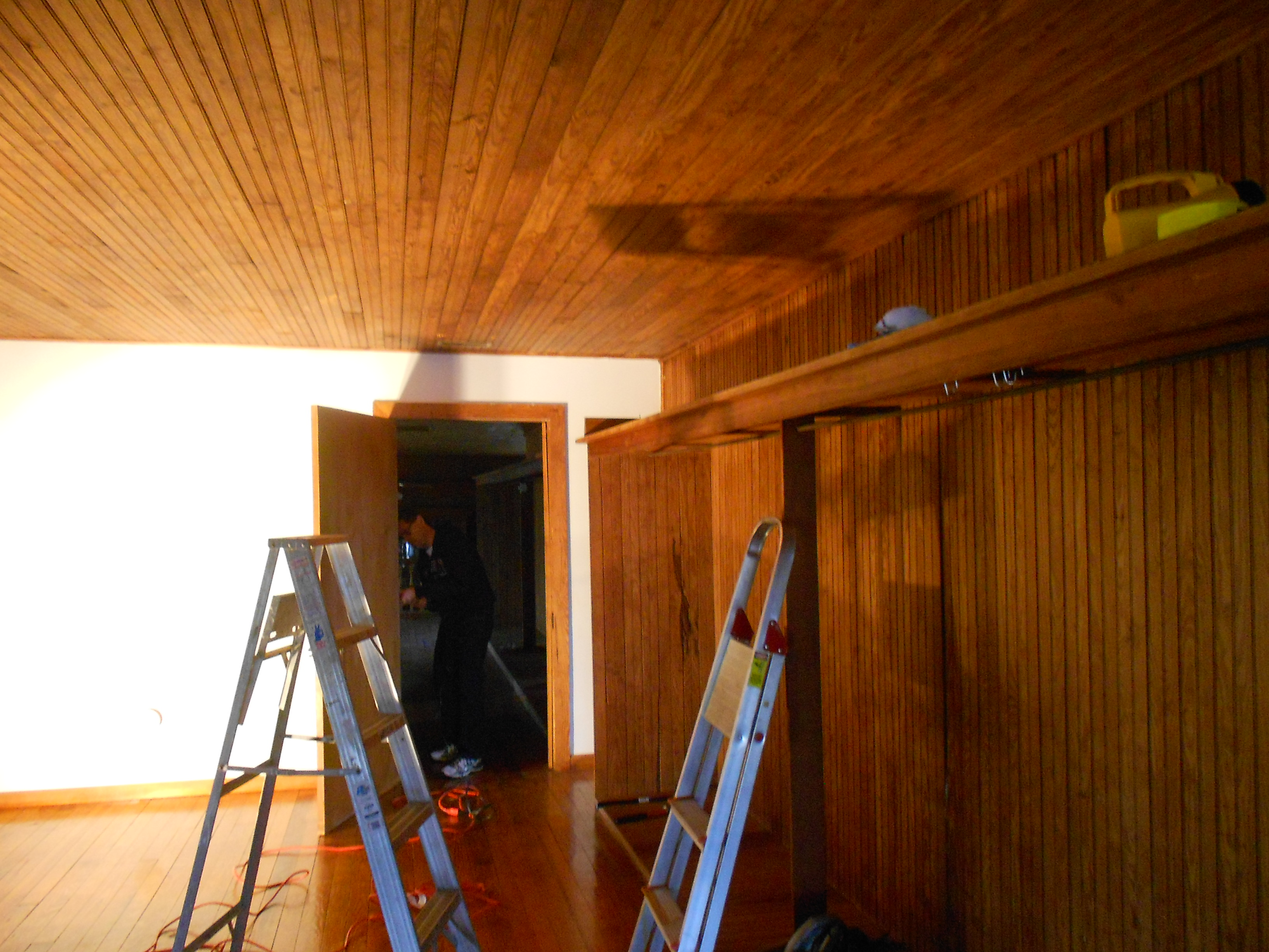 Before we remove the old drywall