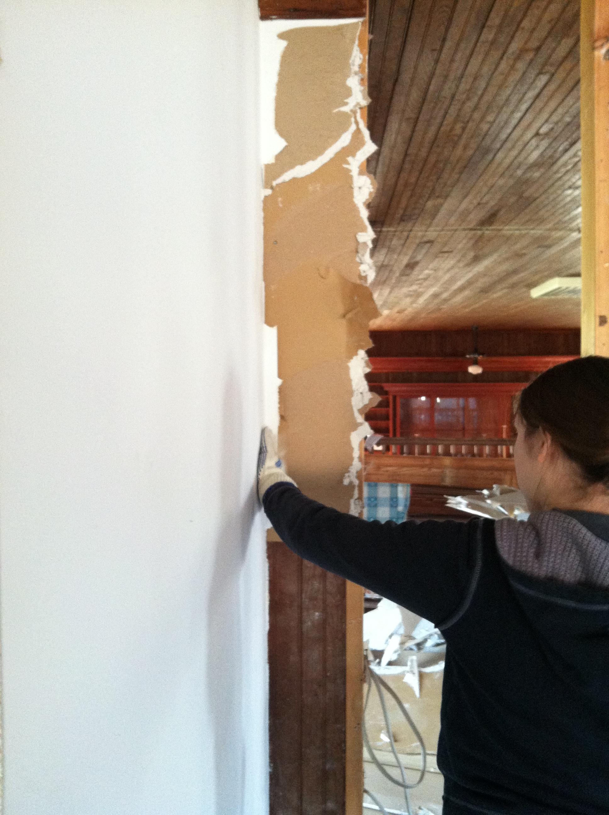 Rachel taking out walls