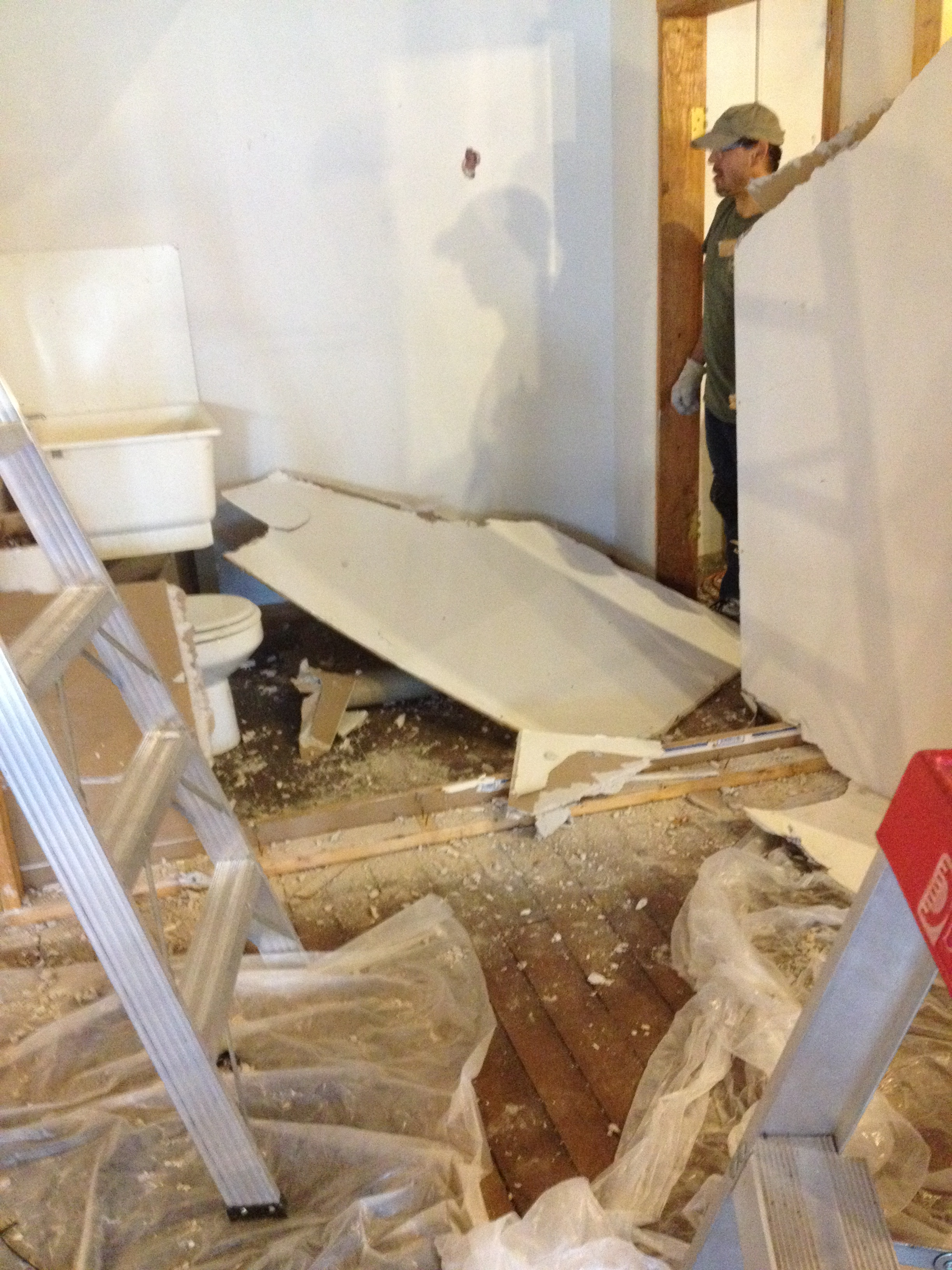 Ceiling unexpectedly fell down!